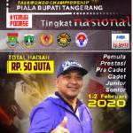 Kejuaraan Taekwondo Bupati Cup 1-2 Februari 2020