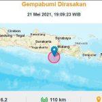Hari Ini Blitar Diguncang Gempa M 6,2, Tidak Berpotensi Tsunami